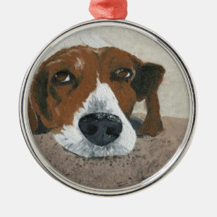 Fudge the Beagle Christmas Ornament