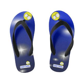 """""""Fudsy Faces""""-Vertigo-Flip Flops for Kid's Thongs"""