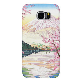 Fuji from Kawaguchi Okada Koichi shin hanga japan Samsung Galaxy S6 Cases