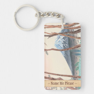 Fuji from the Pine Forest at Harajiku japanese art Key Ring