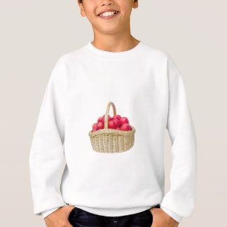 Full basket with red apples sweatshirt
