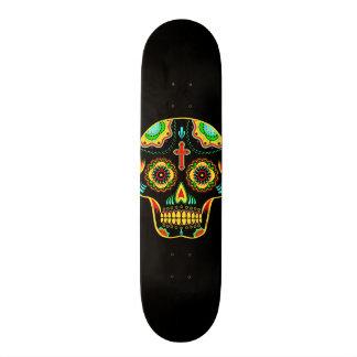 Full color sugar skull skateboard deck