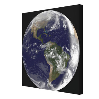 Full Earth showing North America and South Amer 7 Gallery Wrap Canvas