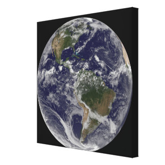 Full Earth showing North America and South Amer Stretched Canvas Print