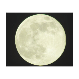Full Moon Stretched Canvas Prints