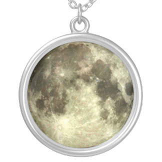 Full moon necklace. round pendant necklace