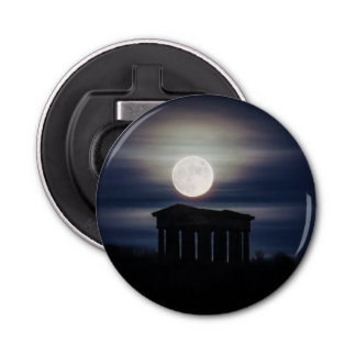 Full Moon over Penshaw Monument Bottle Opener