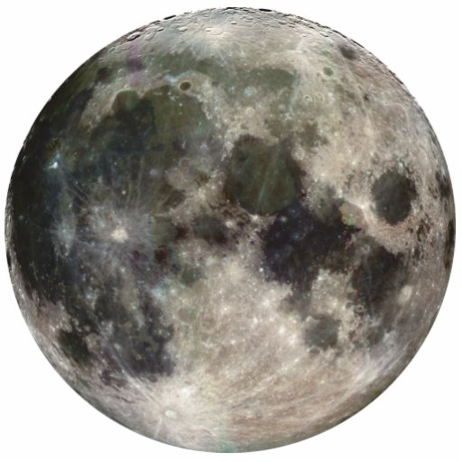 Full Moon Photo Cut Outs