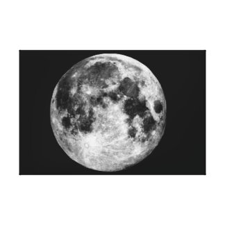 Full Moon Wall Canvas. Stretched Canvas Print