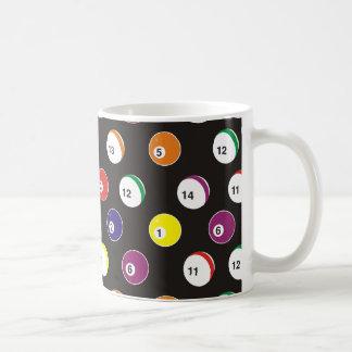 full pattern billiard theme coffee mugs
