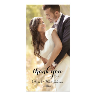 Full Photo Wedding Thank You Card Photo Card