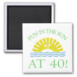 Fun 40th Birthday Gifts Refrigerator Magnet