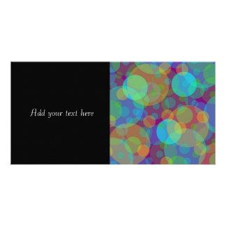 Fun Abstract Art Colorful Circles Customized Photo Card