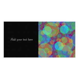 Fun Abstract Art Colorful Circles Customized Photo Card