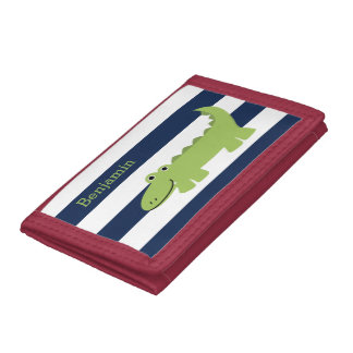 Fun Alligator Kids Trifold Wallet