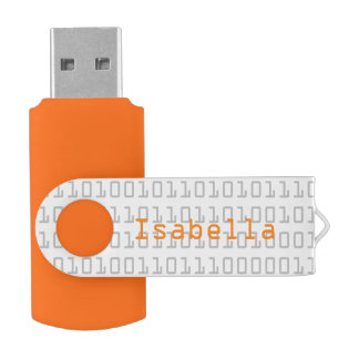 Fun and Cool Binary Code Personalized Swivel USB 2.0 Flash Drive
