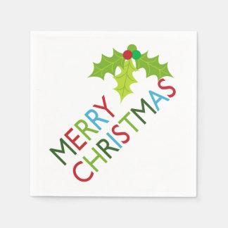 Fun and Festive Merry Christmas Paper Napkins Disposable Serviette