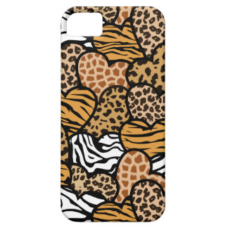 Fun animal pattern hearts barely there iPhone 5 case