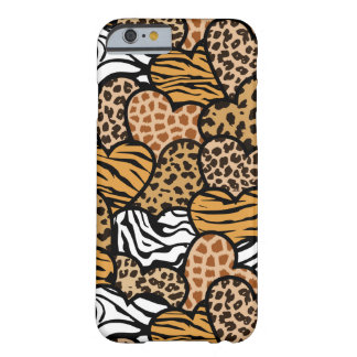 Fun animal pattern hearts barely there iPhone 6 case