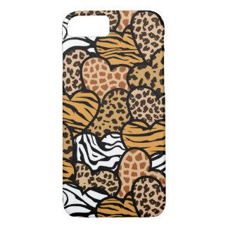 Fun animal pattern hearts iPhone 7 case
