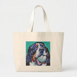 FUN Bernese Mountain Dog pop art painting Large Tote Bag