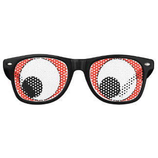 Fun Black Googly-Eyes (down) Party Retro Sunglasses