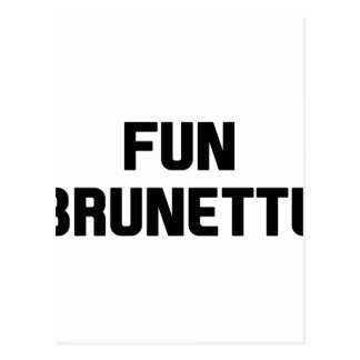 Fun Brunette Postcard