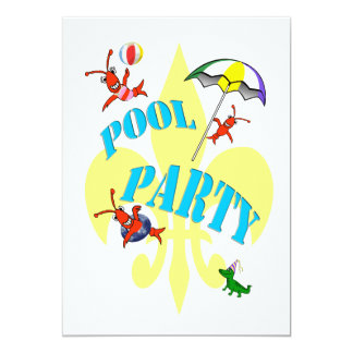Fun Cajun Crawfish Pool Party Invitation