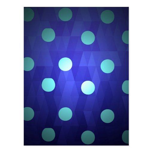 Fun chic big polka dots white vivid deep blue post card
