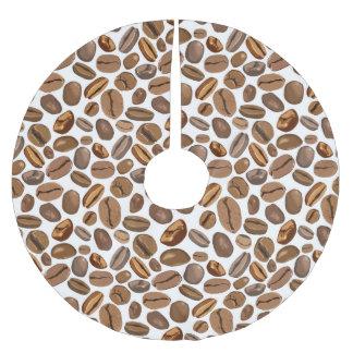 Fun Coffee Bean Design Brushed Polyester Tree Skirt