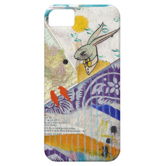 Fun collage with rabbit, calendar, birds... iPhone 5 covers