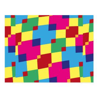 Fun Color Blocks Postcard