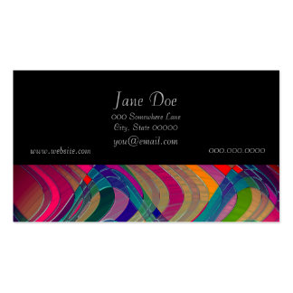 Fun Colorful Abstract Art Design Business Card Template