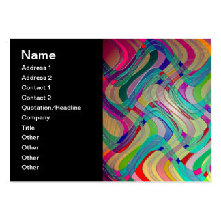 Fun Colorful Abstract Art Design Business Cards