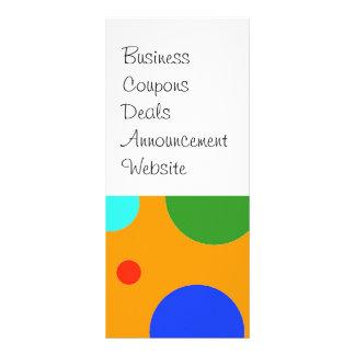 Fun Colorful Big Polka Dots Blue Orange Green Customised Rack Card