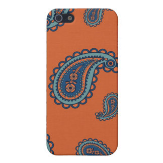 Fun Colorful Blue and Orange Paisley Pattern iPhone 5 Cover