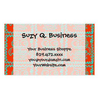 Fun Colorful Owls Orange Teal Blue ZigZag Pattern Pack Of Standard Business Cards