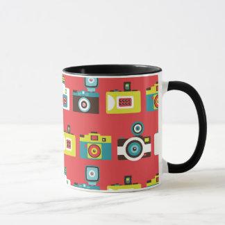 Fun Colorful Retro Lomo Cameras Pattern Mug