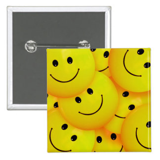 Fun Cool Happy Yellow Smiley Faces 15 Cm Square Badge
