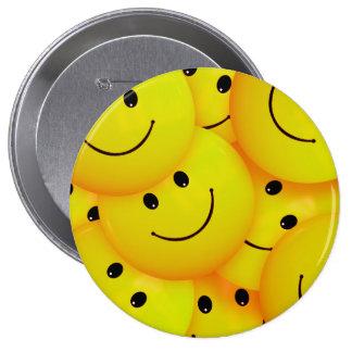 Fun Cool Happy Yellow Smiley Faces 10 Cm Round Badge