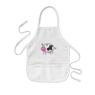 Fun Cow on white Kids Apron
