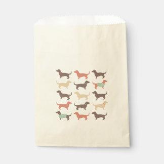 Fun Dachshund Dog Pattern Favour Bags