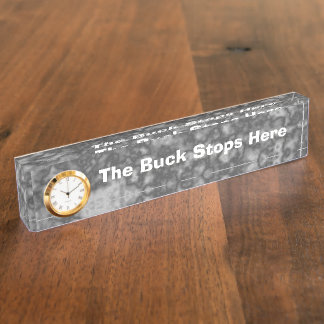 Fun Desk Sign the Buck Stops Here Nameplates