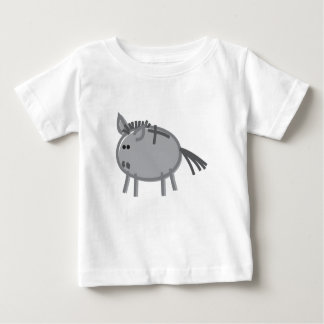 Fun Donkey on White Baby T-Shirt