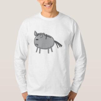 Fun Donkey on White T-Shirt