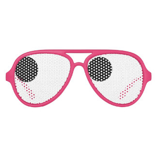 Fun eyeball bachelorette party shades prop for gag