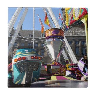 Fun fair in Amsterdam Tile