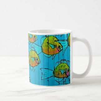 fun fish basic white mug