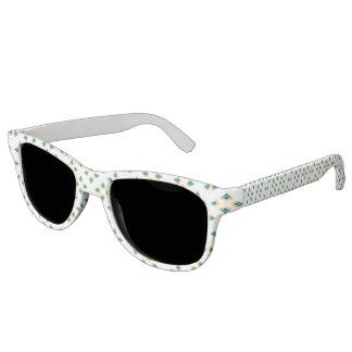 Fun Geometric tree design pattern Sunglasses