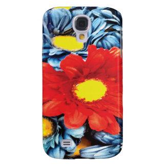 Fun Gerber Daisy Blue Orange Daisies Flower Galaxy S4 Cover